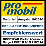 Testlabel Promobil 2020 - Goodyear Vector 4Seasons Cargo
